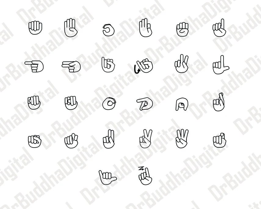American Sign Language SVG Collection Sign Language DXF