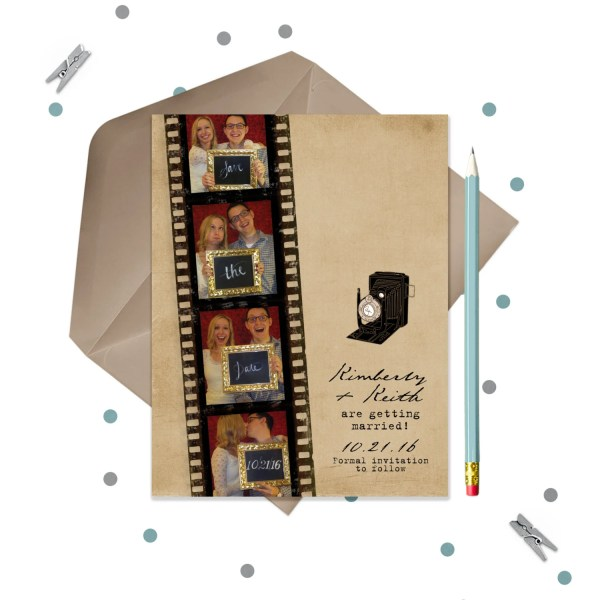 Film Strip Booth Save Date Cards Magnets