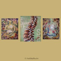 Chiropractic artwork trio wall art set of 3 prints for office