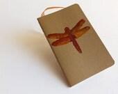 Pocket Diary MOLESKINE® plain with lino cut dragonfly design