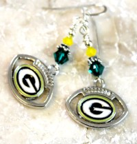 Green Bay Packers Sterling Earrings Green Bay Packers