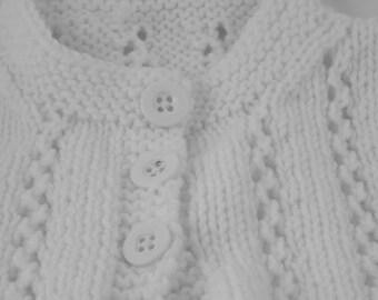 Blue hand knit wavy pattern baby blanket