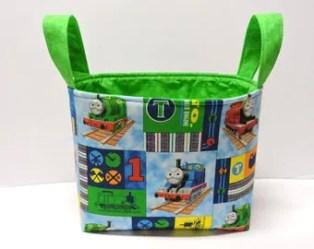 toy basket gift tote minecraft fabric centerpiece storage etsy