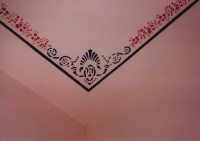 Vintage Ceiling Border Stencil Patterns, Corner ceiling ...