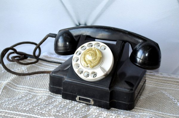Antique Rotary Phone Vintage Art Deco Telephone