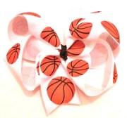 basketball hair bow
