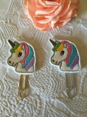cute unicorn with pastel rainbow