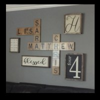 Scrabble wall art Display family names in a by
