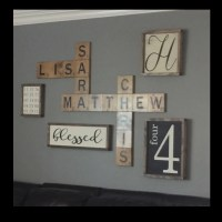 Scrabble wall art Display family names in a by ...