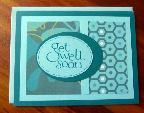 Get Well Card Handmade Get Well Card Get Well Soon Get Well