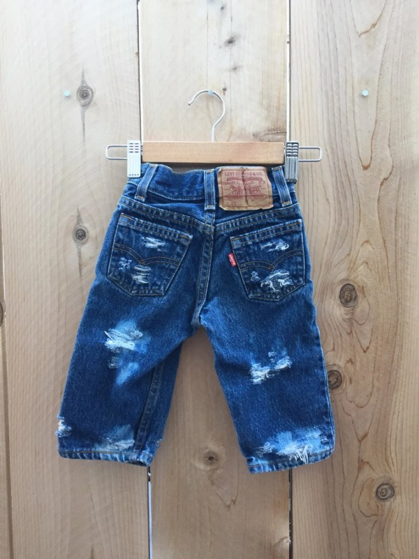 Baby Levi' 501 Distressed Denim Hipster Size 6-12m Infant