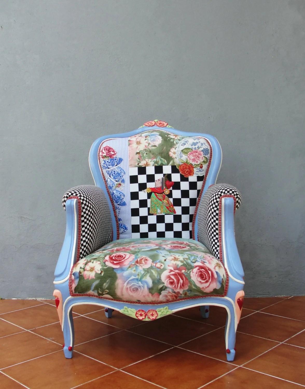 alice in wonderland chair wheelchair lights armchair flowers and woodwork bohemian