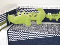 Alligator pillow, alligator nursery, alligator madras