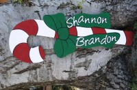 Christmas Candy Cane Wood Yard Art Outdoor Decoration