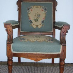 Eastlake Victorian Parlor Chairs Counter Height Chair Covers Antique Arm Blue Upholstered Parlour By Akaata