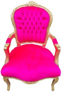 Vintage French Chair Hot Pink Velvet with Gold by ...