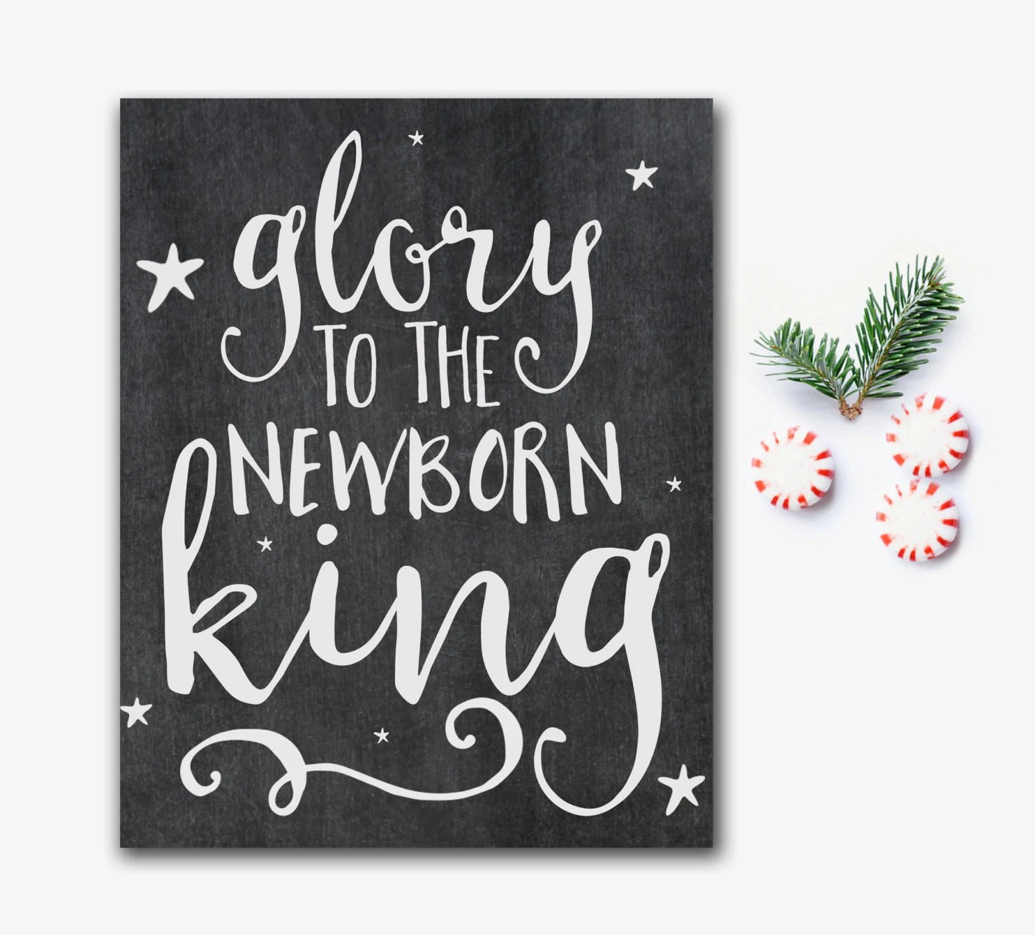 Christian Christmas Printable Glory To The Newborn King