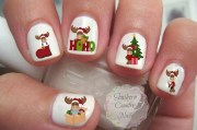 christmas moose nail decal