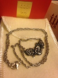 James Avery Rose necklace 16 Retired chain 925 Sterling