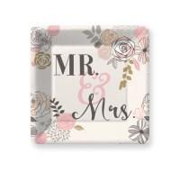 Mr & Mrs Paper Plates, Pkg 8, Wedding Plates, Cake Plate ...