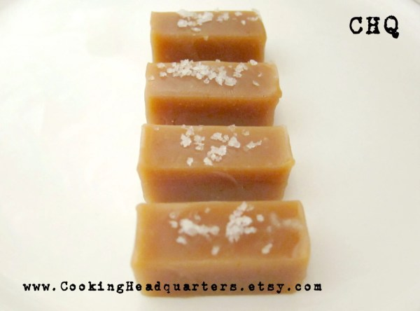 Soft Salted Caramel Chews Recipe Homemade Caramels Chewy