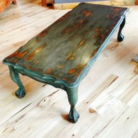 Vintage Painted Coffee Table Rustic Chippy by ...