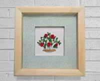 Red roses bush quilling paper art Quilling by ...