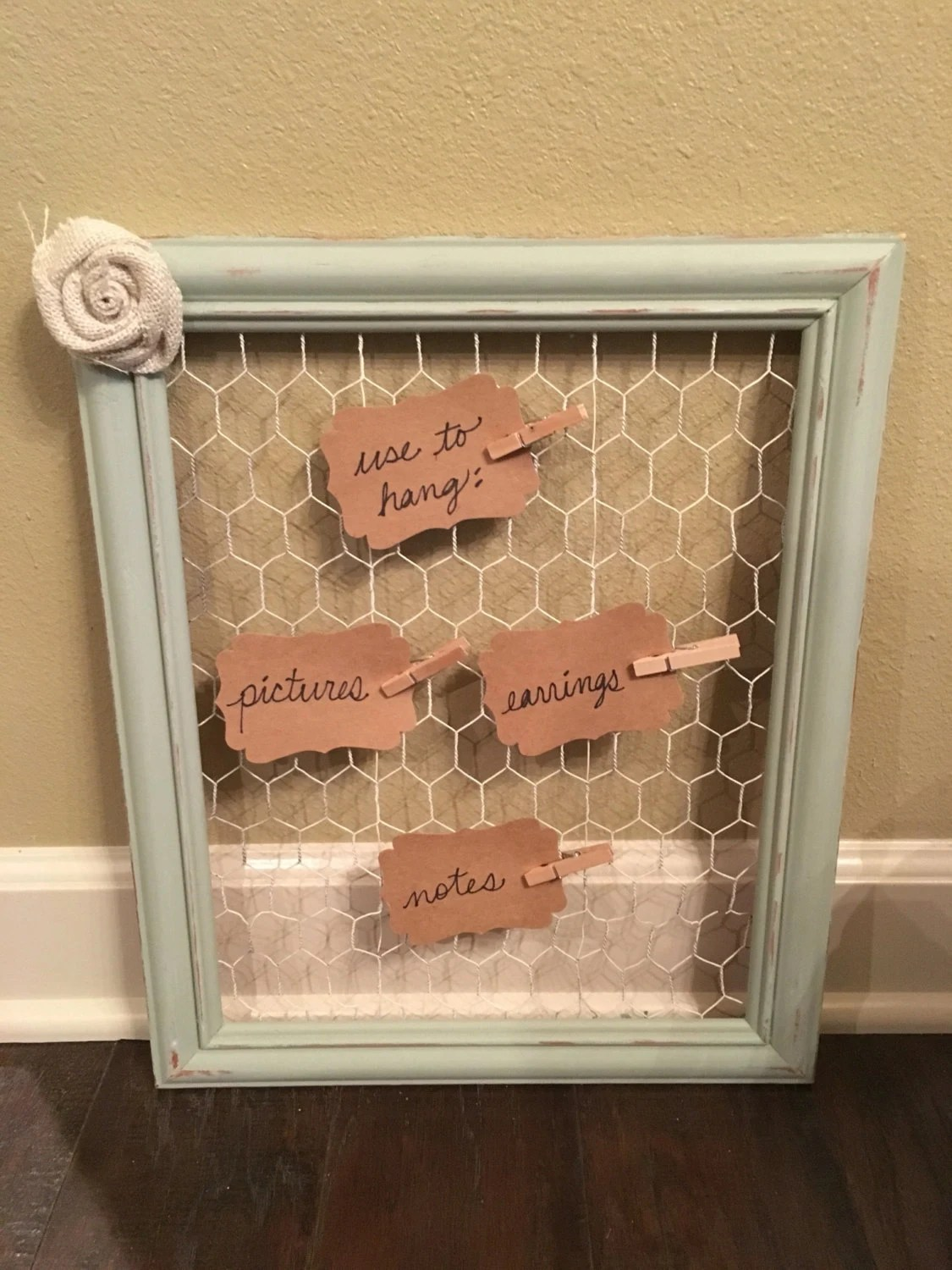 Picture Frame Earring Holder Picture Holder Chicken Wire Frame