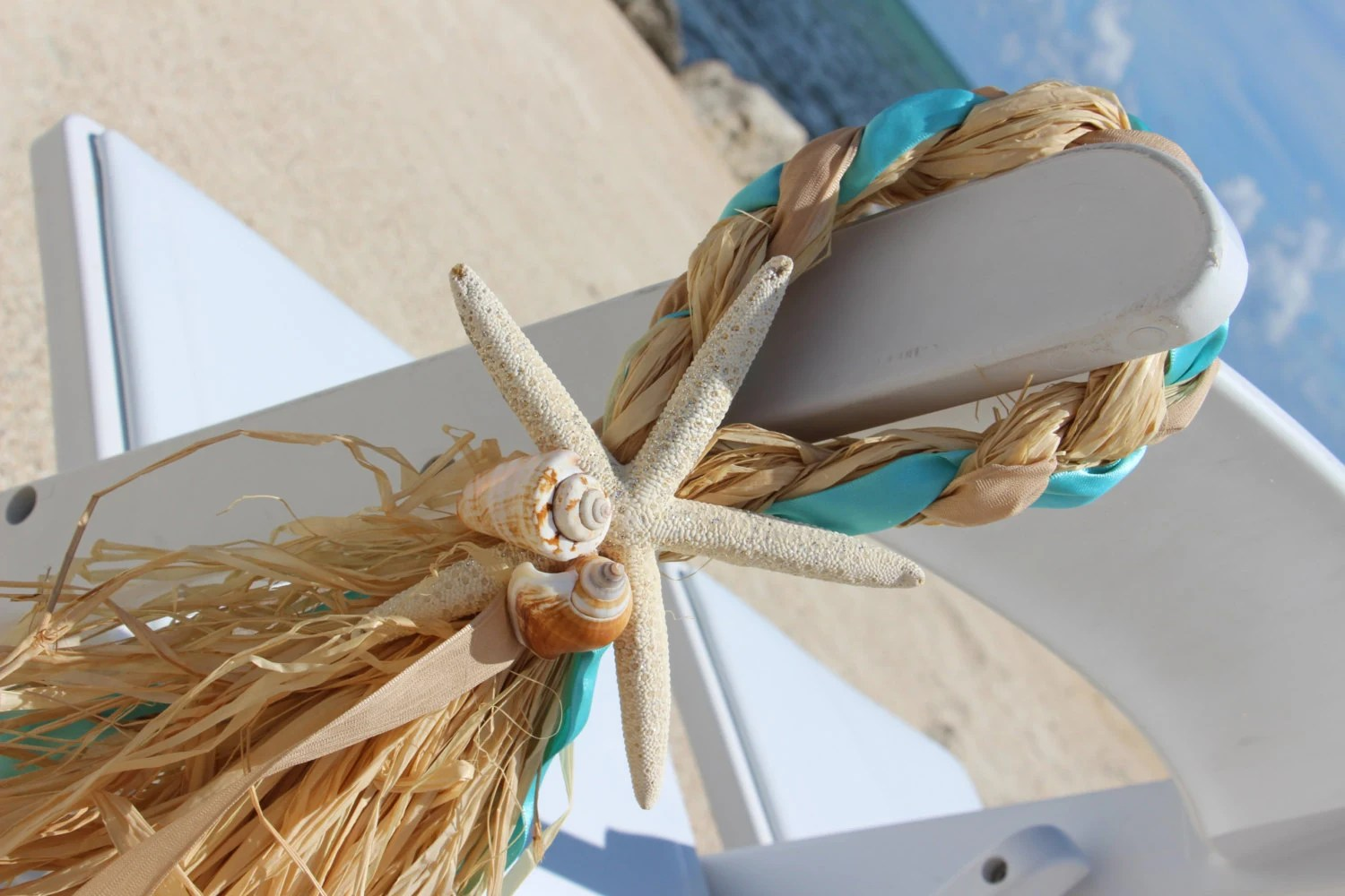starfish wedding chair decorations power lift reviews beach decor aisle by twocraftycubans on etsy