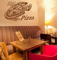 kik1052 Wall Decal Sticker Pizza Italian Restaurant Pizzeria