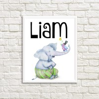 Items similar to ISAAC - Personalized Baby name wall ...