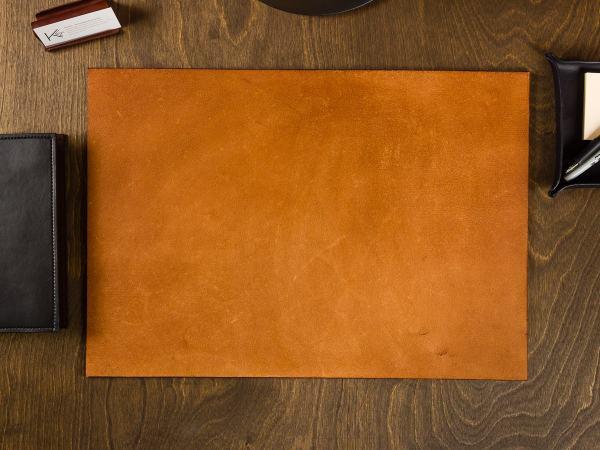 Full Grain Leather Desk Pad Blotter / by KarlVonArtistry ...