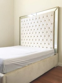 Extra Tall King Bed Tufted Headboard King Size by NewAgainUph