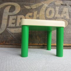 Little Tikes Classic Table And Chairs Mission Style For Sale Vintage Green White Dollhouse Furniture