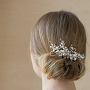 bridal hair comb pearl wedding