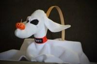 Zero Ghost Dog Easter Basket Zero dog costume propFlower