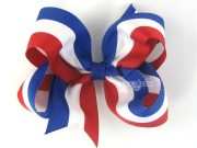 girls hair bows red white and blue