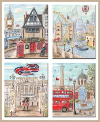 Travel Themed Nursery Wall Art London Theme by ...