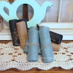 Burlap Chair Sashes Canada Patterned Fabric Club Chairs Faded Denim Ribbon 6 Quot Wide