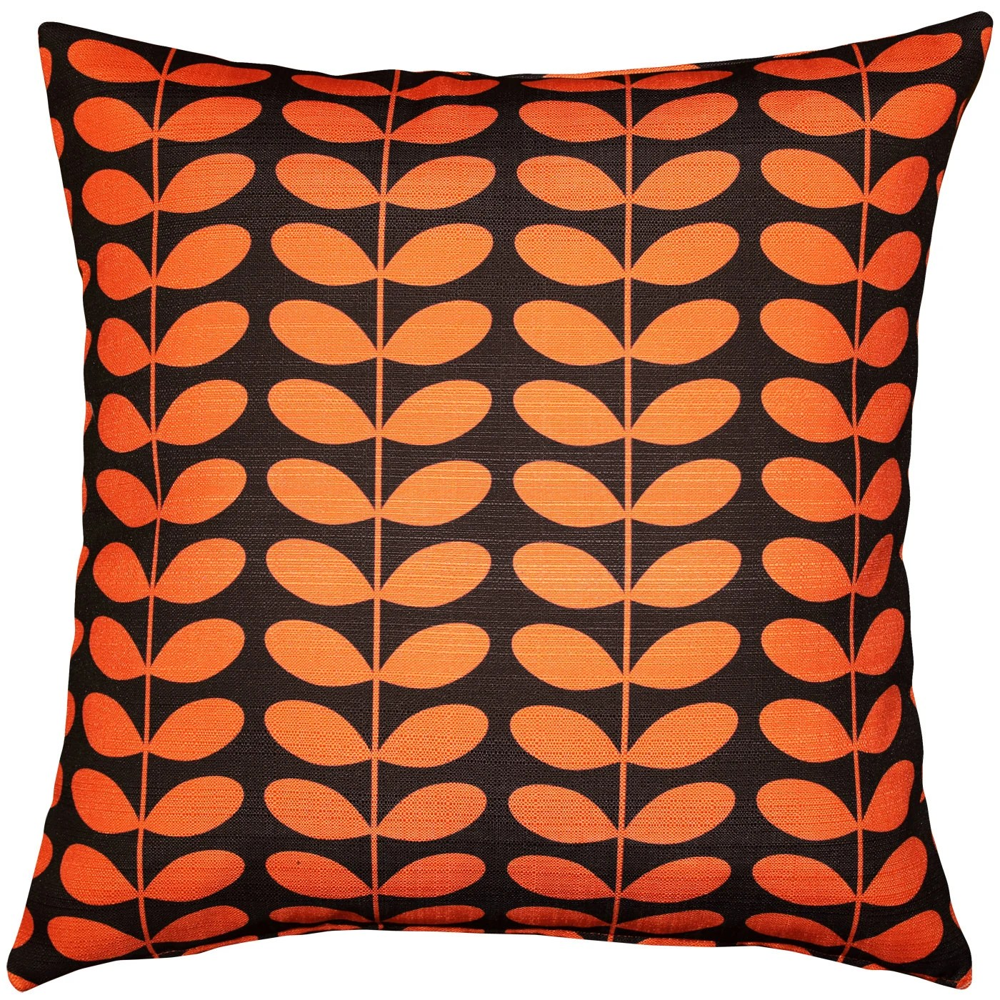 MidCentury Modern Orange Throw Pillow 20x20