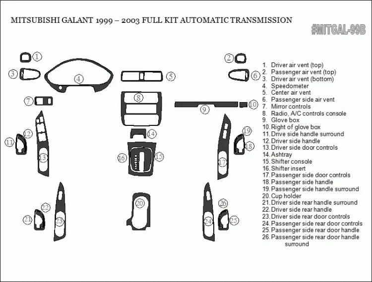 Mitsubishi Galant 1999 2000 2001 2002 2003 Premium Interior
