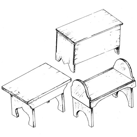 SF501 18th Century Camp Furniture Plans by Smoke & Fire