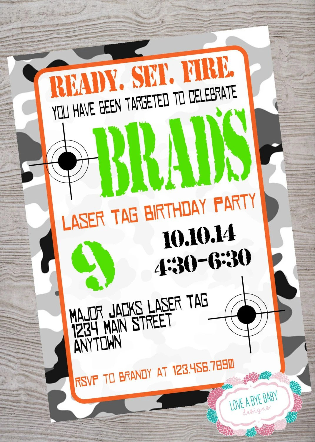 picture regarding Laser Tag Birthday Invitations Free Printable identified as Laser Tag Birthday Invites - Anarchistshemale