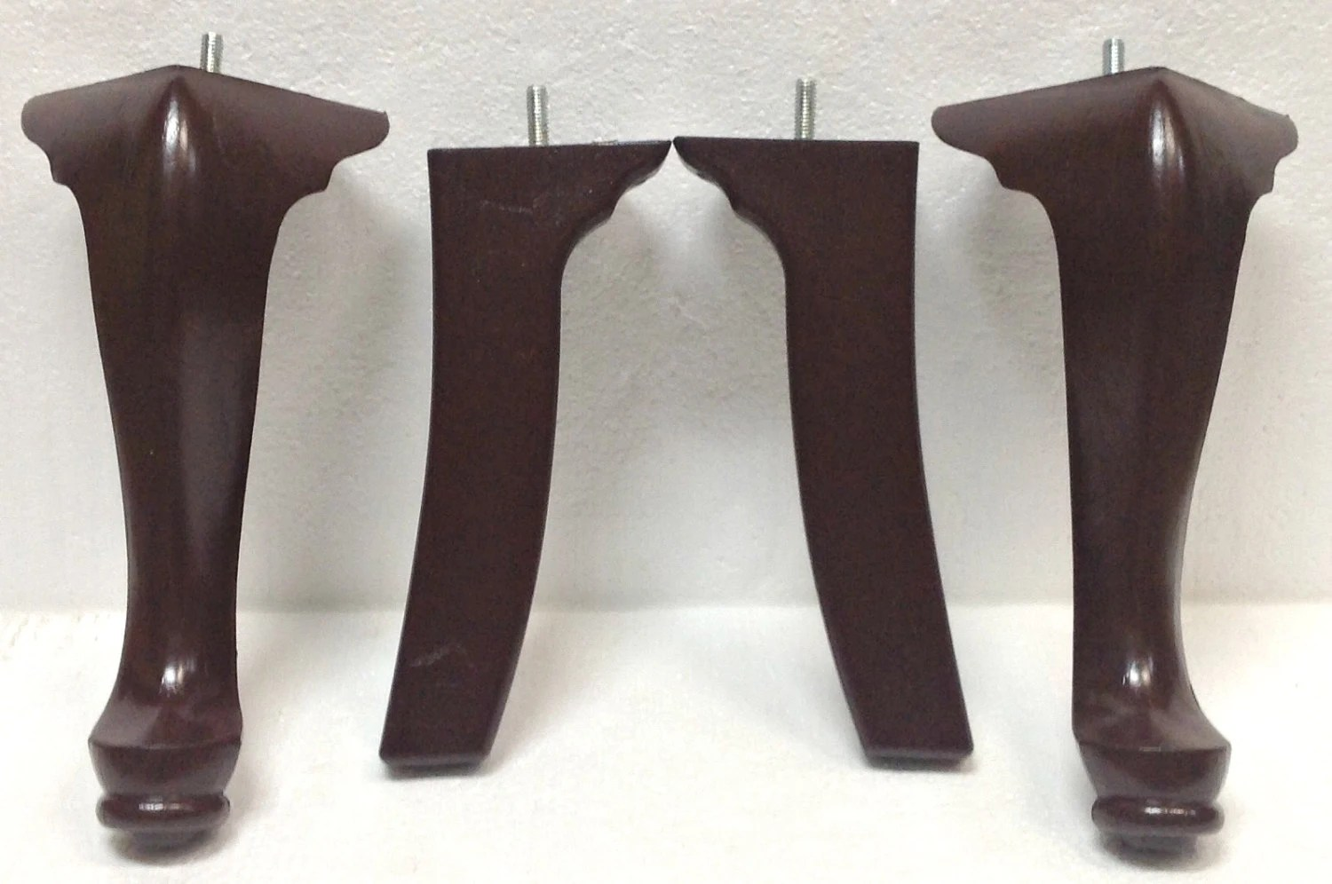 plastic feet for chair legs wrought iron rocking outdoor queen anne furniture wood sofa couch