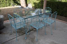 Vintage Outdoor Iron Patio Set Lg