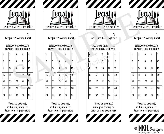 Scripture Reading Chart Bookmark