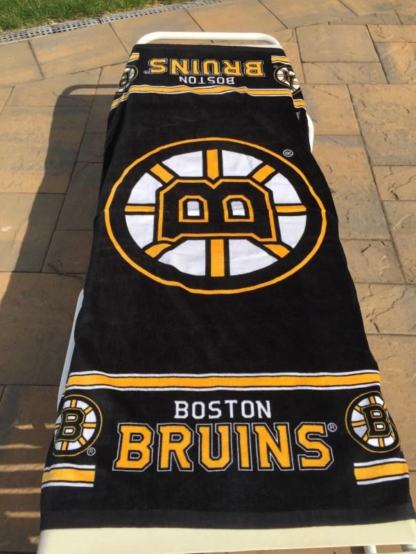 Hockey Nhl Boston Bruins Beach Towel Personalized