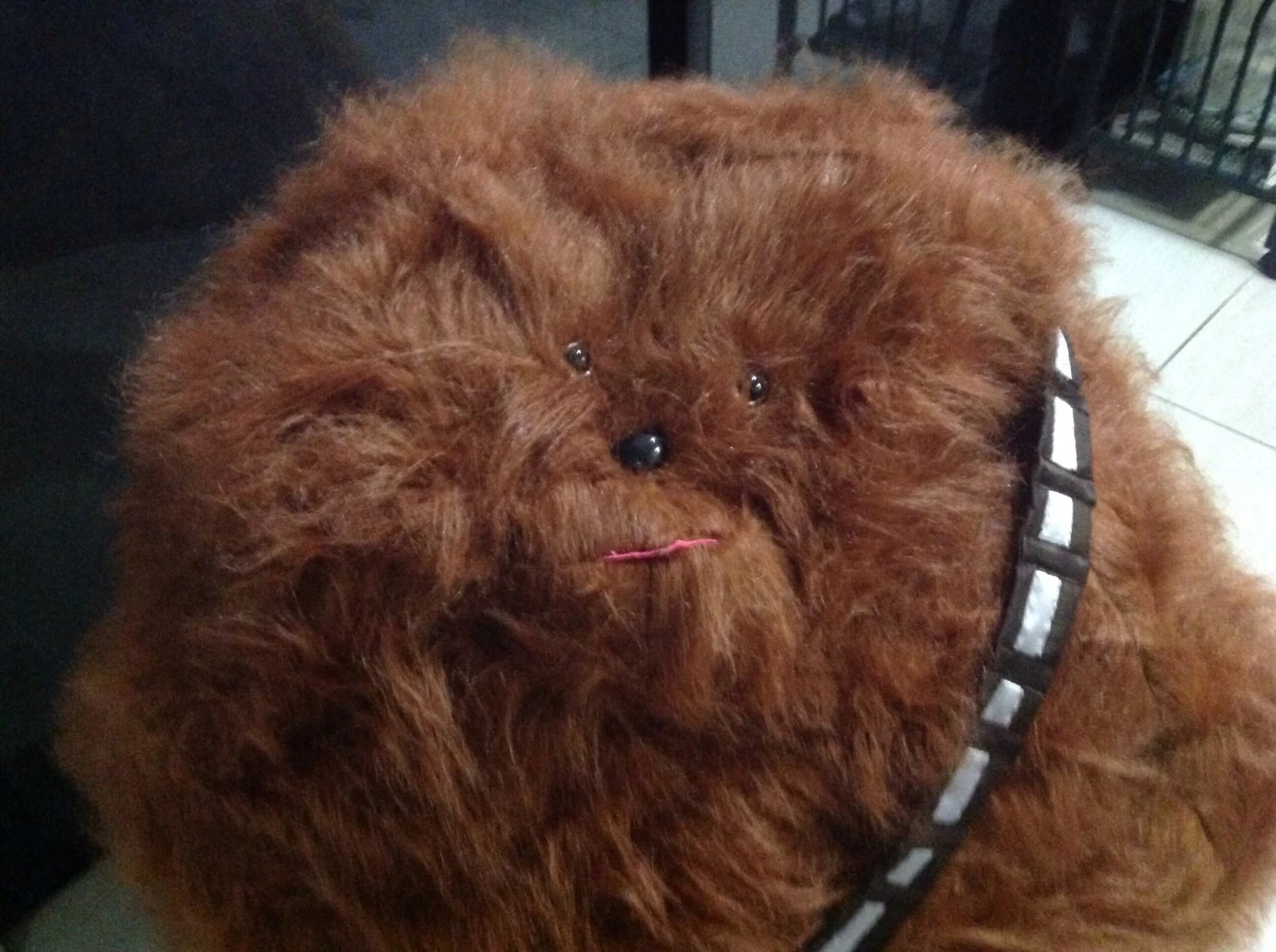 star wars bean bag chair sloping arm dining bagchewbacca faux fur by curvaciousyouclaire
