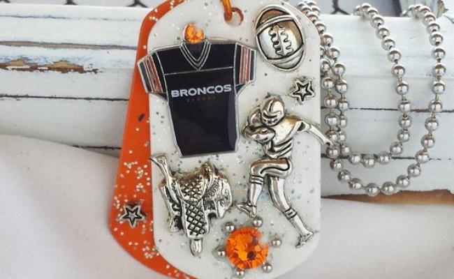 Items Similar To Denver Broncos Dog Tag Football Bling