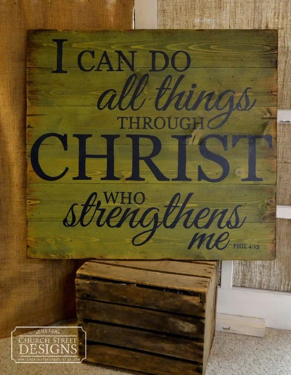 Items Similar To Bible Verse Sign, I Can Do All Things